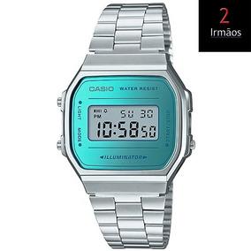 Relógio Casio Vintage Prateado A168wem-2df