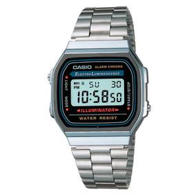 Relógio Casio Vintage A168wa-1wdf Cinza