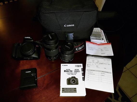 Camera Canon T6 Kit Premium C/lentes E Extras - Só Em Mãos