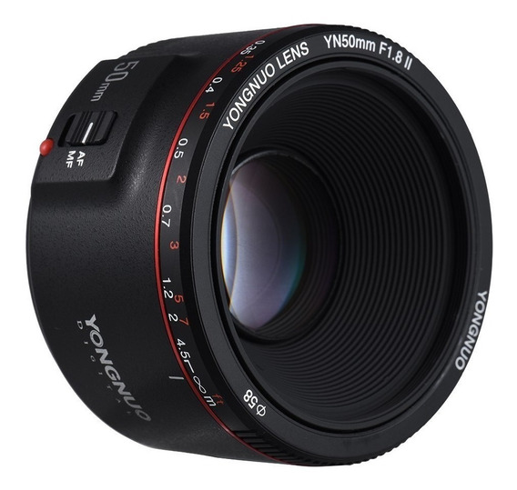 Lente Yongnuo Yn 50mm Ii F1.8 Para Canon Ef - Novo Modelo V2