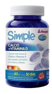 Simple Calcio + Vitamina D 60 Pastillas De Goma Bago Arcor