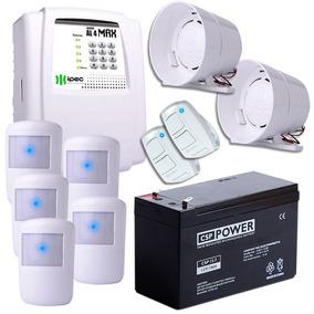 Kit Alarme Sem Fio 5 Sensores 2 Sirenes Com Bateria