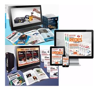 Kit Curs Técnico Pc + Electrónica + Redes. Aprende (3 En 1).