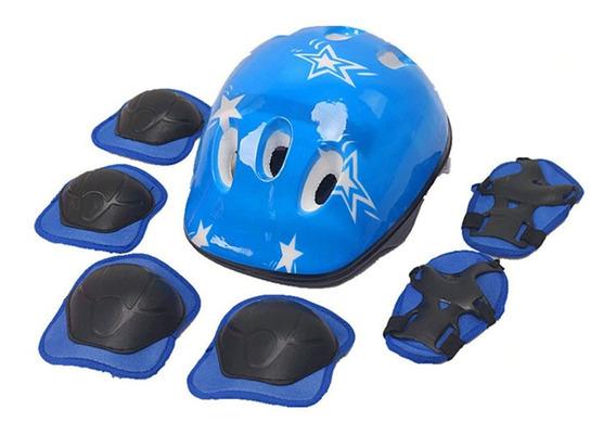 Set Protección Niños Casco Rodilla Codo Mano / Lhua Store