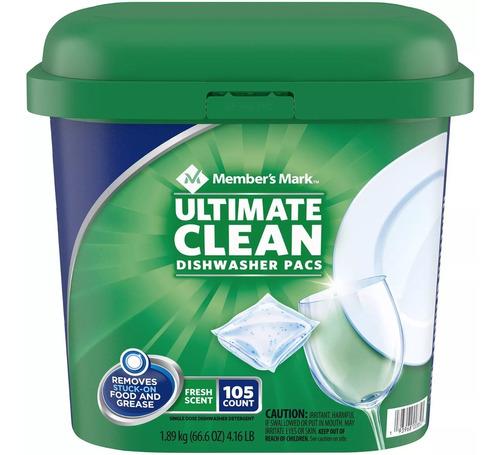 Detergente Autodish Para Lavavajillas Member's Mark 105 Pzs