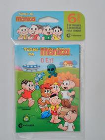 10 Pcts C/ 6 Mini Livros Turma Da Mônica, 14x10 Cm