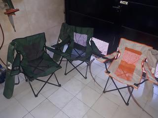 Sillas Plegables Para Camping X 3