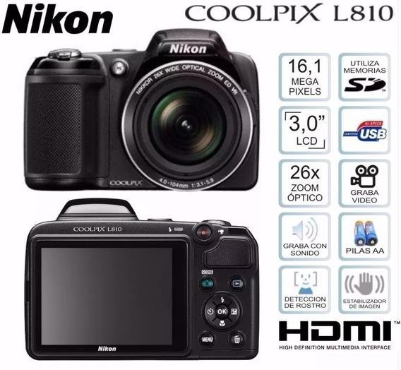 Camera Digital Nikon Coolpix L810 - 26x Optical Ótimo Estado