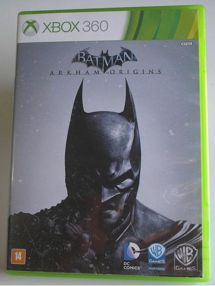Batman Arkhan Origens Xbox 360 Original Pt Usado Testado Ok