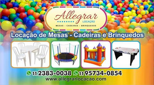 Imagem 1 de 3 de Aluguel De Mesas, Cadeiras E Brinquedos