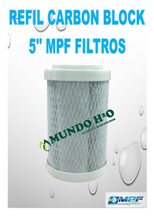 Refil Filtro Chuveiro Ducha Carbon Block 5 Polegada