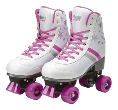 Imagem 1 de 7 de Patins 4 Rodas Retrô Clássico Ajustável Menina Rollerskate