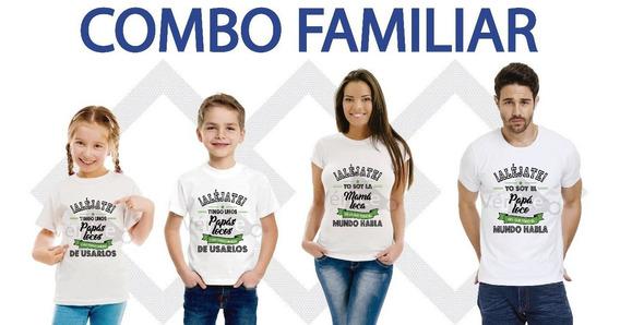 Remeras Combo Familia(5 Remeras)