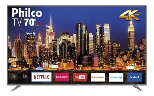 Imagem 1 de 3 de Smart Tv Led 4k 70  Philco Bivolt Ptv70q50snsg