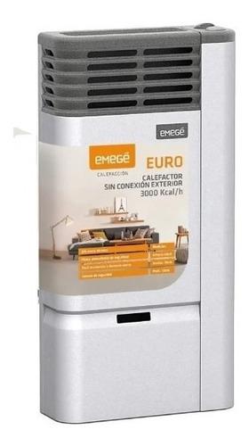 Imagen 1 de 5 de Calefactor Emege Euro 3000 Calorias Sin Salida Multigas