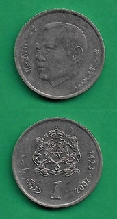 Grr-moneda De Marruecos 1 Dirham 2002 - Rey Mohammed V I
