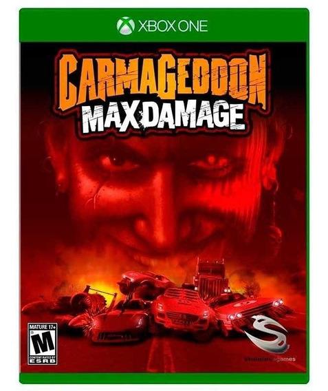 Carmageddon Max Damage Xbox One Mídia Física Novo Lacrado