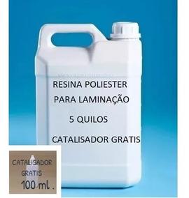 Resina Poliéster 10 Kg + 5 Kg Manta Fibra De Vidro Gr 450