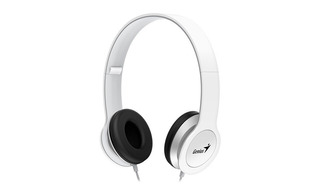 Auricular Genius Vincha Hs-m430 Con Mic Plegables N O Blanco