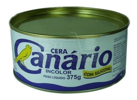 Cera Pasta Canario Incolor Lata 375g.