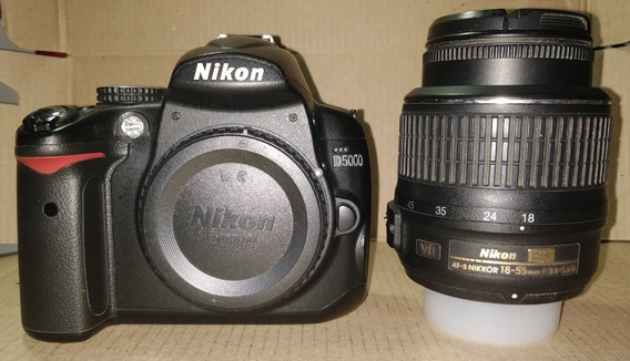 Nikon D5000 + Lente 18-55mm + Cartão Sdhc (ultra) De 16 Gb