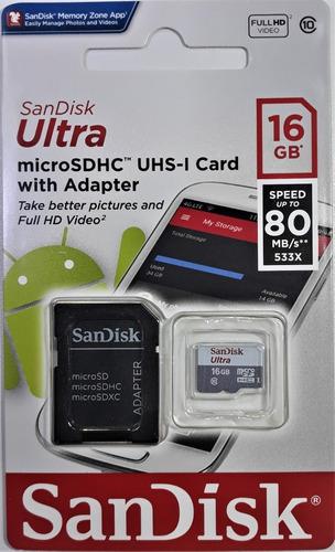 Cartão Micro Sd 16gb Sandisk Original Novo Na Embalagem