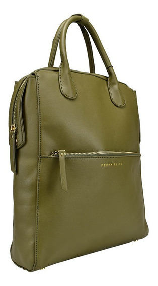 Bolsa Back Pack Marca Perry Ellis Verde, A01933