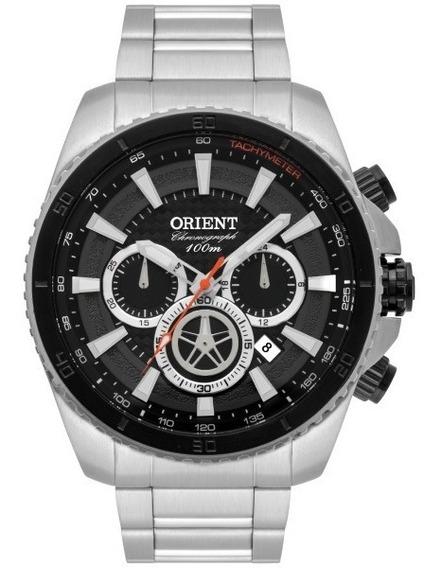 Relógio Orient Masculino Aço Fundo Preto 33910