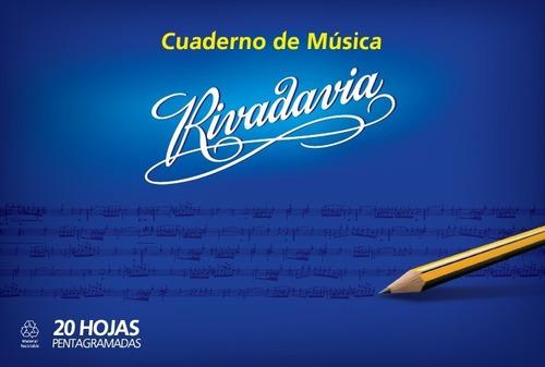 Cuaderno De Musica Pentagramado Rivadavia