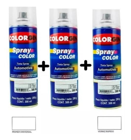 Tinta Spray Automotiva Na Cor Do Seu Carro + Primer + Verniz