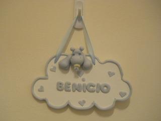 Cartel Bienvenida Nacimiento Porcelana Fria