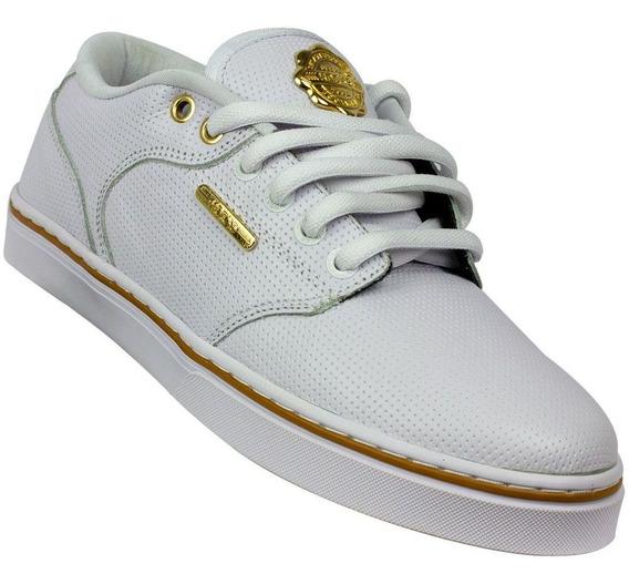 Tênis Hocks Montreal Branco E Dourado