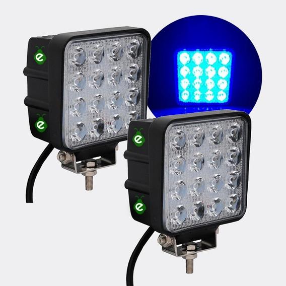 Reflector Con Luz Azul 12/24v 48w Para Fumigadores Ii58a X 2