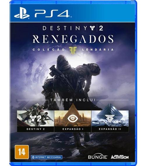 Jogo Destiny 2 Renegados Ps4 Mídia Física Original Português