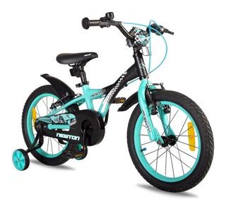 Bicicleta Niño Newton Race. Rodado 16 Con Rueditas