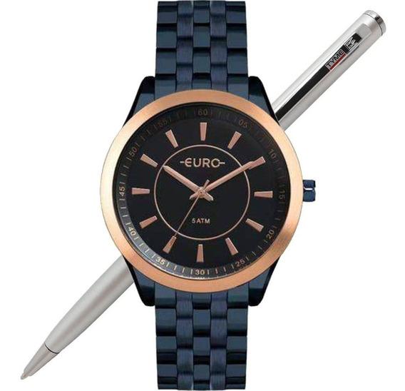 Relógio Euro Feminino Color Slim Azul Eu2035yox/4a - C/ Nfe
