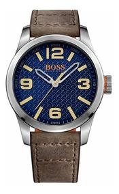 Reloj Hugo Boss 1513352 Orange Cuarzo Paris Hombre Piel