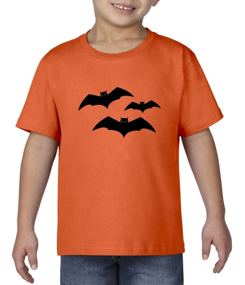 Camiseta Playera Bebe Niño Halloween Murciélago Terror Miedo