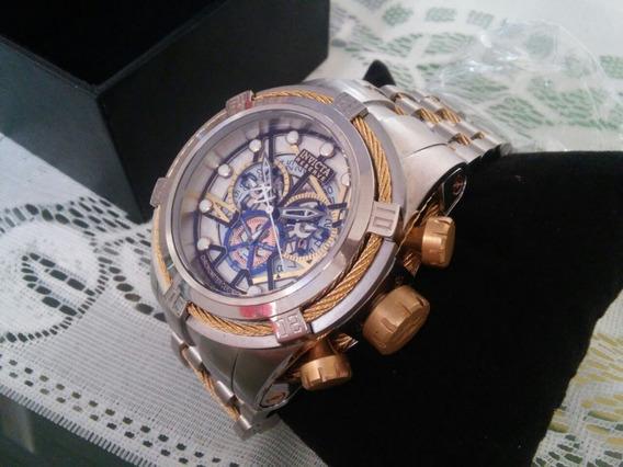 Relógio Invicta Reserve Bolt Zeus 13751 Pulseira Inox Ouro