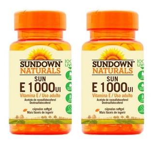 Vitamina E 1000 Ui - 2x 50 Cápsulas - Sundown