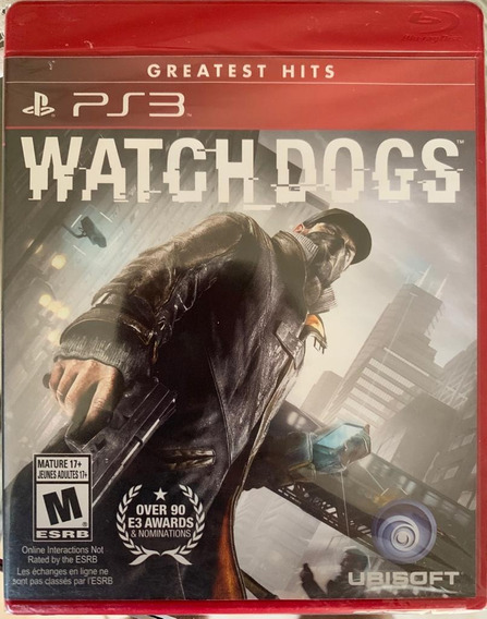 Jogo Watch Dogs Ps3 Midia Fisica