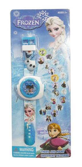 Relógio Digital C/ Projetor Princesas Frozen Ponny Ou Barbie