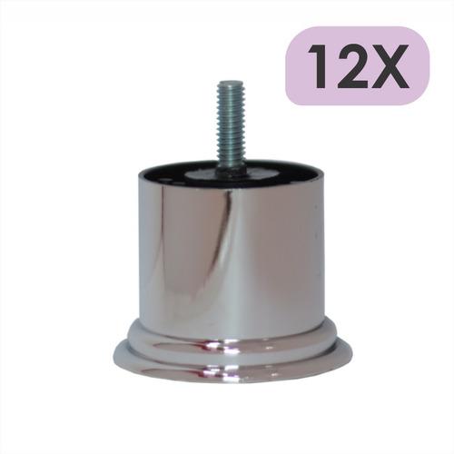Imagem 1 de 4 de Mini Pé Cama Box Baixo Castor Gazin Ortobom 5cm Cromo - 12un