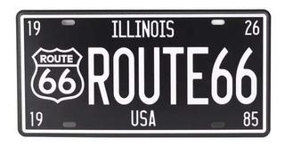 Placa Decorativa Letal Route 66
