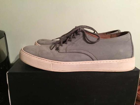 Zapatos Aldo De Hombre Número 44 En Cuero Gris. Importados
