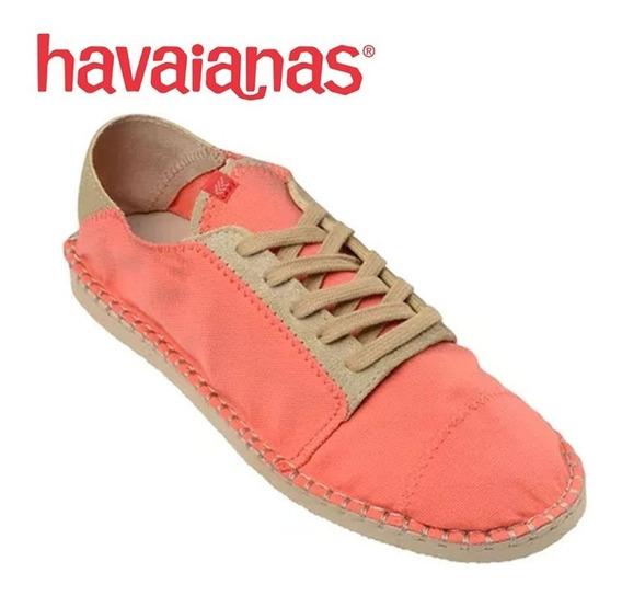 Tênis Sneakers Havaianas Alpargata Salmão/rosa Claro