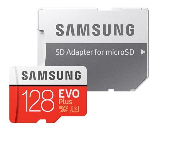 Cartão Samsung Micro Sd Evo Plus 128gb Embalagem Lacrada