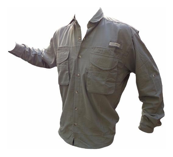 Camisa Explora Cargo Ventilada Trekking Secado Rapido Pesca