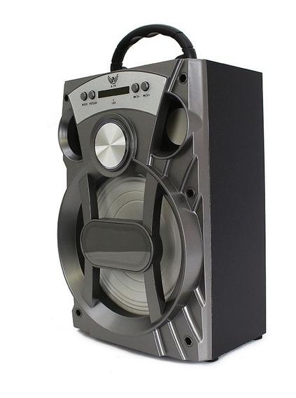 Caixa Som Portátil Amplificada Usb Mp3 Radio Fm Cart A79 Aux