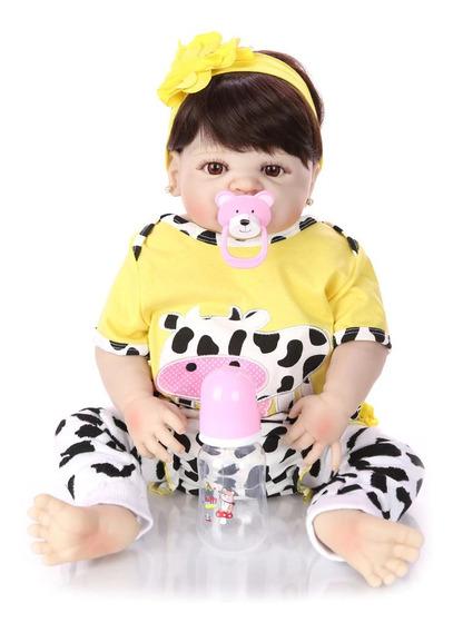 Bebe Reborn Menina Amarelinha Silicone Pronta Entrega